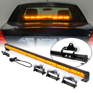 32 Led 35 36 Yellow Amber Emergency Traffic Advisor Flash Strobe Light Bar
