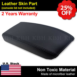 Leather Armrest Center Console Lid Cover Fits Toyota 4runner Pickup 84 89 Black