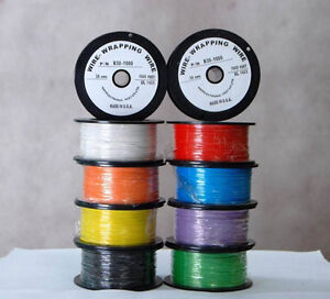 1000ft 300 c High Temperature Silver Plated Copper Wrapping Wire Cable 30awg