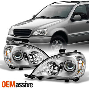 Fit 98 01 Mercedes Benz W163 Ml320 Ml430 Projector Headlights Headlamps L r