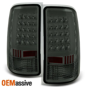Fit 2007 2013 Gmc Sierra 1500 07 14 2500hd 3500hd Smoked Led Tail Lights Lamps