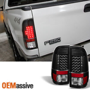 Fit 97 03 Ford F150 99 07 F250 350 450 550 Styleside Led Tail Lights Brake Lamps