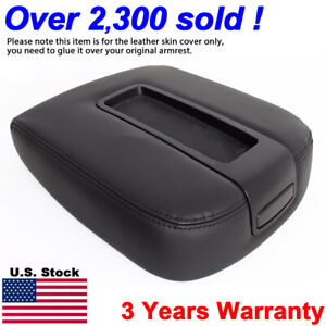 Armrest Center Console Leather Synthetic For Chevy Tahoe Suburban 07 13 Black