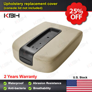 Leather Console Lid Armrest Cover Fits 07 13 Tahoe Suburban Yukon Sierra Tan