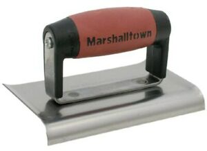Marshalltown 136ssd 3 X 6 Curved End Stainless Steel Edgers no 136ssd