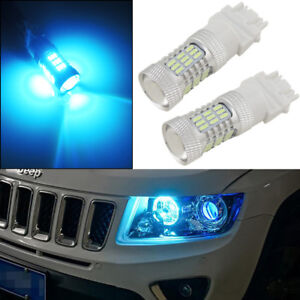 2 Ice Blue 3157 3757 4114 4157 Car Truck Daytime Running Lights 45 smd Led Bulbs