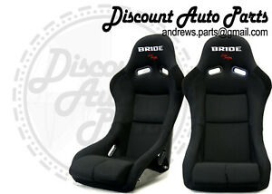 Bride Vios 3 Iii Black Seats Low Max Jdm Bucket Auto X Racing Drift Pair