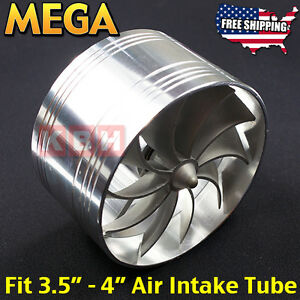 Air Intake Fan Turbo Supercharger Turbonator Gas Fuel Saver Fit 3 5 To 4 Inches