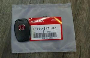 Jdm Red H Type R Key Fob Case Back Cover Honda Civic Accord Fa5 Fg2 Fb6 Crz Oem