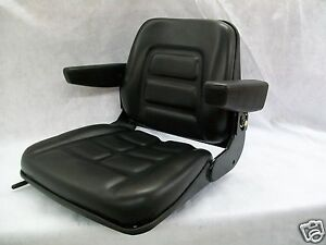 Universal Heavy Duty Seat W Arm Rests For Forklifts telehandlers tractors bj