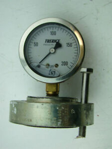 Trerice Pressure Gauge Max Psi 200 With Ametek Diaphragm