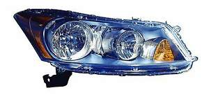 New Honda Accord Sedan 2008 2009 2010 2011 2012 Right Passenger Headlight Light