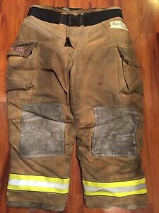 Firefighter Turnout Bunker Pants Globe 46x30 G Extreme Halloween Costume