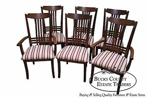 Bermex Traditional Solid Maple Wood Set Of 6 Dining Chairs