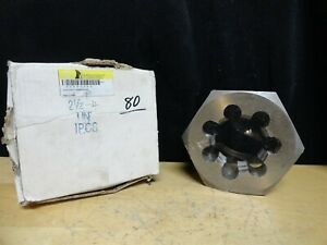 Hexagon Re threading Die 2 1 2 4 Carbon Steel New In The Box