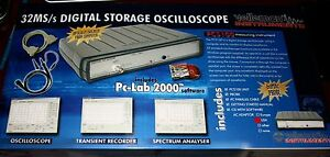 Velleman Pcs100 Pc scope 32 Ms s 1 Chan W Adapter Pcs100