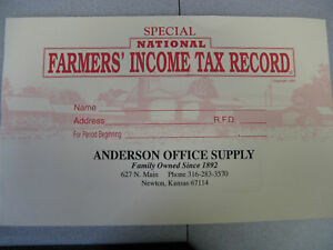 10 Mcleod s National Farmers Income Tax Record Book New