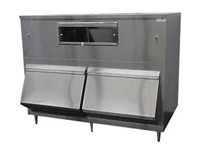 New Ice Machine Bin 2 door Upright Bumper 2650lb Stainless Made Usa