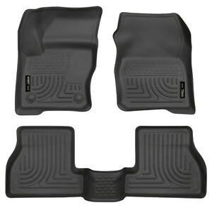 Husky Liners Front 2nd Seat Floor Liners For 2012 2015 Ford Focus Black