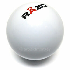 Razo Ra101 Shift Knob Shiftknob Gear Lever 46g White Resin Ball Carmate Jdm