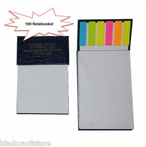 Bulk Lot Of 100 Misprint Crocodile Executive Desk Notepad With Flags