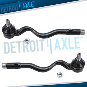 New Pair 2 Front Outer Tie Rod End Links For Bmw 3 Series E36 E46