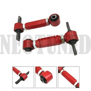 Red Steel 88 00 Civic 90 01 Integra Del Sol Adjustable Rear Camber Kit Alignment