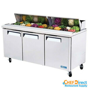 Turbo Air Mst 72 n 72 3 Door Standard Top Sandwich Prep Table