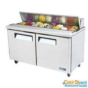 Turbo Air Mst 60 n 60 Double Door Standard Top Sandwich Prep Table