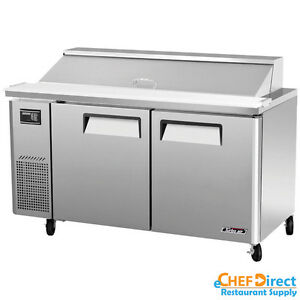 Turbo Air Jst 60 n 60 Double Door Sandwich Prep Table side Mount