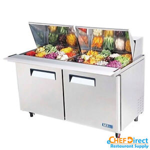 Turbo Air Mst 60 24 n 60 Double Door Mega Top Sandwich Prep Table