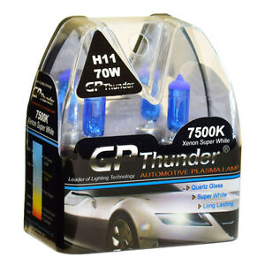 Gp Thunder Ii 7500k H11 Xenon Halogen Light Bulb 70w Super White Higher Watt