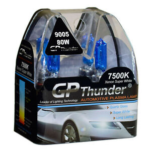 Gp Thunder Ii 7500k 9005 Hb3 Xenon Halogen Light Bulb 80w Super White High Watt