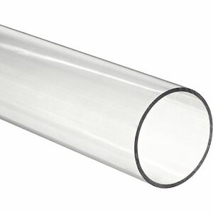 48 Clear Polycarbonate Round Tube 7 8 Id X 1 Od nominal pack Of 8