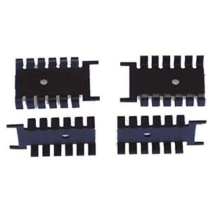 Anodized Aluminum Heatsink For To 220 Pkg Devices Lot Of 10