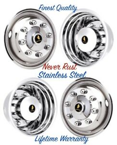 19 5 Chevy Kodiak C4500 C5500 C6500 8 Lug Wheel Simulator Rim Liner Set Of 4