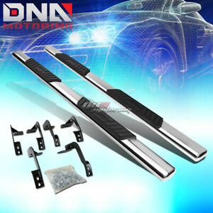 For 09 15 Dodge Ram 4dr Crew Cab Stainless 5 Chrome Oval Side Step Nerf Bar Kit