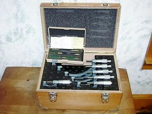Mitutoyo 0 6 Inch Micrometer Set No 103 907 W Case Standards