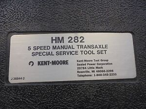 Kent Moore Gm Special Tool J 36844 Hm 282 Tranny Kit never Used