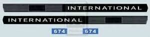 International 674 Decal Set