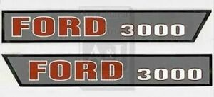 Made To Fit Ford Tractor Hood Decal Set Model 3000