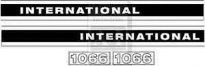 International Case Ih Tractor Model 1066 Decal Set