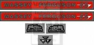 Massey Ferguson 65 Hood Decal Set