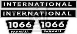 Farmall Caseih Tractor 1066 Decal Set