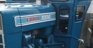 Ford Tractor Hood Decal Set Model 7000