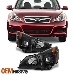 2010 2011 2012 Subaru Legacy Outback Black Projector Headlights Replacement