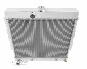 1965 1966 Plymouth Valiant V8 Aluminum 4 Row Champion Radiator