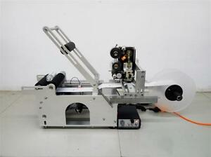 Automatic Round Bottle Labeling Machine With Coder Date Printing Labeler Mt 50d