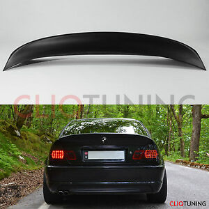 Bmw E46 Coupe Csl Style Wing Spoiler 2door Rear Trunk Lip For Drift Stance