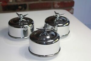 Mushroom Smooth 1 Barrel Low Profile Air Cleaners 3 Wing Nut Hot Rat Rod Truck